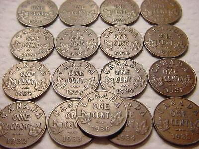 Canada Cent Lot 1922 1923 1924 1925 1926 1927 1930 1931 Key Dates Plus More  N/R
