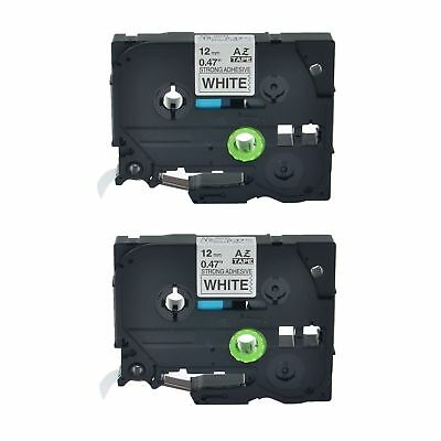 2PK TZe S231 TZ S231 Black On White Label Tape For Brother P-Touch PT-1190 12mm
