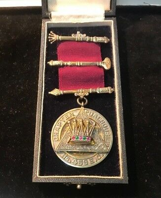 1940 - 41 CHAPTER '' DALHOUSIE '' No. 459 E.C SILVER MASONIC JEWEL / MEDAL