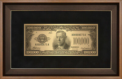70156 A copy of the US banknote of great denomination Golden certificate $100000