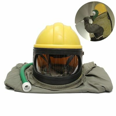 AIR FED Safety Sandblast Helmet Sand Blast Hood Protector for Sandblasting+ Pipe