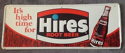 Hires Root Beer Soda Embossed Tin Sign It's High Time For Hires