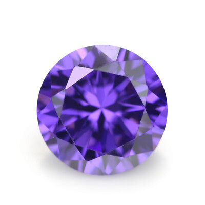 Purple Sapphire 6.25Ct 10MM Round CUT AAAAA Loose Gemstone