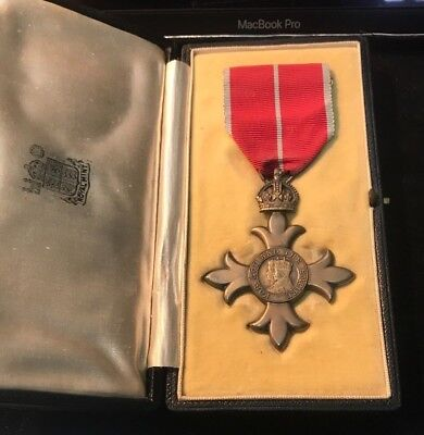 Order Of The British Empire O.b.e Medal. 2Nd Type Military & Case.