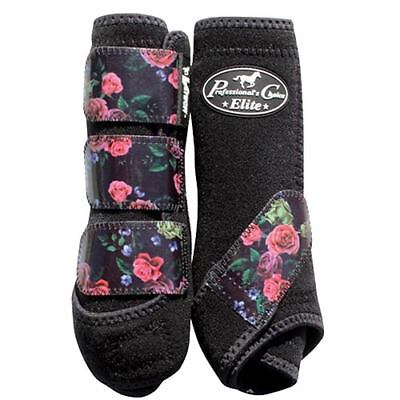 Professional's Choice VenTech Elite Sports Medicine Boots 4-Pack- Rose/Bla - Med