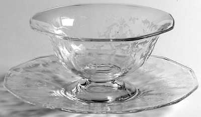 Fostoria NAVARRE CLEAR Mayonnaise Bowl & Underplate 148802