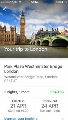 short break london park plaza 3 nights april 2018 double deluxe room