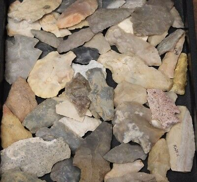 Collection of 50 Prehistoric North American Projectile points (Arrowheads)