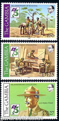 Gambia Scouts Woodworking Tree Planting Baden Powell MNH ** (16)