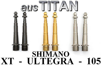 2 Pedal axels in TITANIUM 3 colours 43/% lighter SHIMANO A600