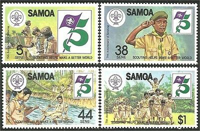 Samoa Scouts 75th Baden Powell MNH ** (104)