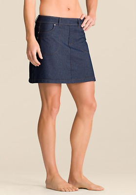 Athleta Womens Denim Bettona Classic Skort - Indigo Denim Size M