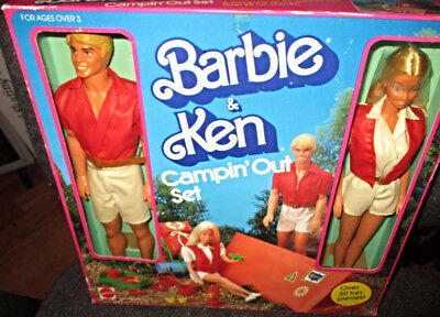 1983 Mattel Barbie & Ken Campin' Out Outdoor Fun Set 20 Pieces New