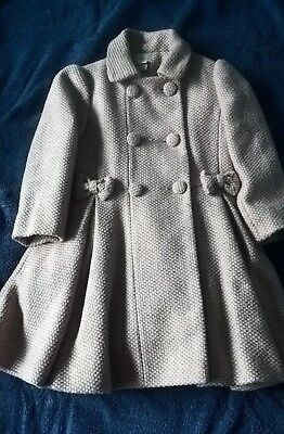 Monsoon pink/grey winter coat to fit girl age 3-4, bought this year, immaculate