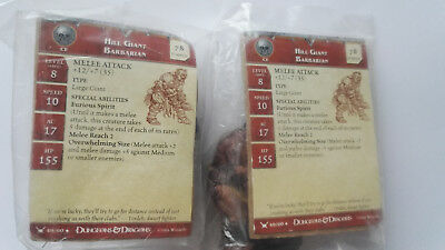 D&D mini // Hill Giant Babarian // War drums // Unco // Card ok // 2 figurines