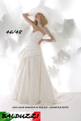 abito da sposa wedding dress  46 48   pizzo d15