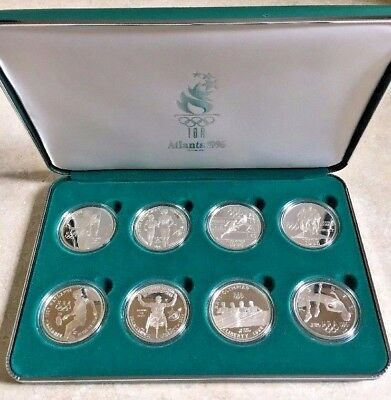 1996 U.s. Olympic Coins Of The Atlanta Centennial Olympic Games 8 Proof Set Coa
