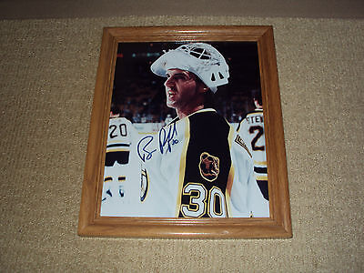 Bill Ranford, Boston Bruins Hockey Goalie, Autographed 8 X 11 Photo With Frame