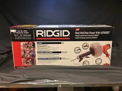 Ridgid K-45 AF Hand Held Drain Cleaner with Auto Feed Never used still in box