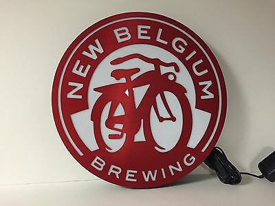 "New Belgium Brewing Fat Tire LED Sign ~ NEW In Box ~ 16"" ~ Aluminum Nice Quality"