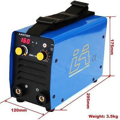160Amp Mma/Stick/Lift Tig Dc Inverter Welder Duty Cycle 60% + Carry Case/Kits