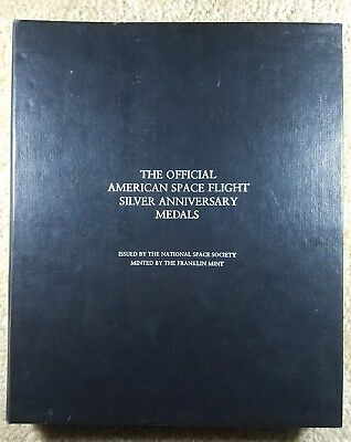1985 Official American Space Flight Silver Anniversary Medals - Franklin Mint