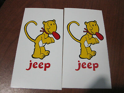 Popeye character JEEP auto decal stickers  2