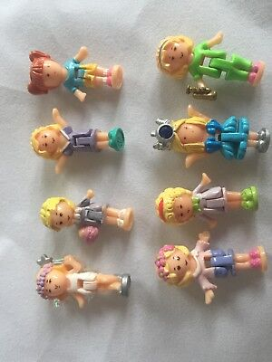 8 Polly Pocket Dolls - Random Assortment