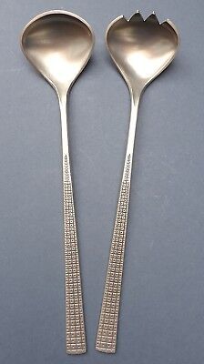 Gorgeous Pair Mid Century Pewter Salad Servers Mastad Norway 1960s Gulbrandsrod
