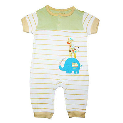 Baby Boy Safari Friends Coverall  Jumpsuit One piece 0-9 months