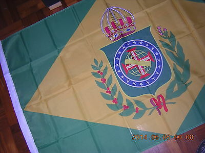 100% NEW reproduced Flag of Empire of Brazil 1870-1889 Ensign.3ftX5ft