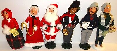 """LOT of SIX (6) ASSORTED Vintage BYERS CHOICE """"THE CAROLERS"""" DOLLS~LOT #2! NR!"""