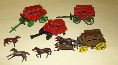 4 lead  Wild West Stage Coaches for sale - some for repair