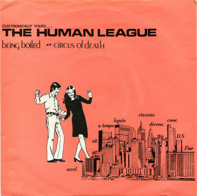 THE HUMAN LEAGUE, BEING BOILED ,CIRCUS OF DEATH, 1978, vgc