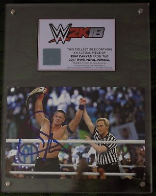 WWE 2K18 Cena Nuff Edition - JOHN CENA SIGNED PLAQUE
