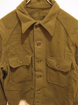 Vintage OG 108 Olive Green Wool Field Shirt US Army Cold Weather Size Medium