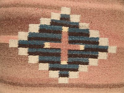 """Antique Navajo BLANKET PILLOW Native American Indian Rug Southwest 21"""" x 21"""""""