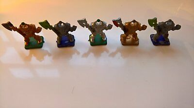 5 Hero Quest Chaos Warrier Figures