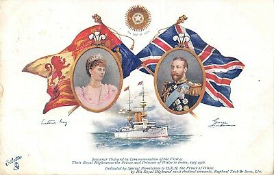 POSTCARD    ROYALTY    GEORGE  V & Q  MARY Tuck