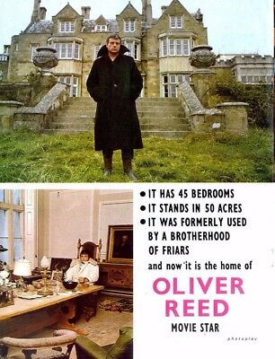 Pp72/4P32 Oliver Reed Movie Star Article & Pictures
