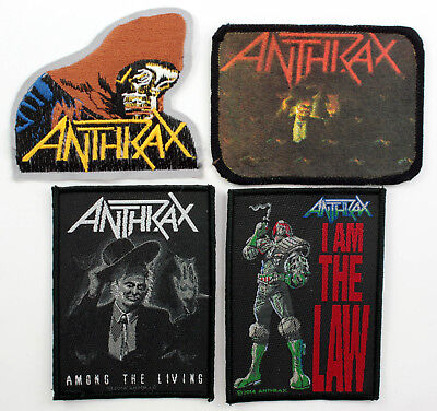 ANTHRAX PATCHES 4 x Anthrax Patches - Some are rare vintage patches
