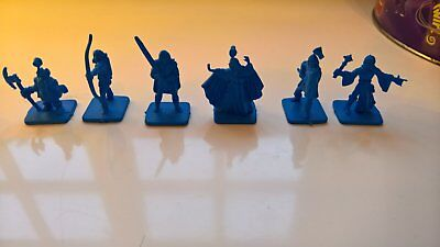 6 Hero Quest Blue Questers Figures