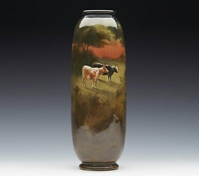 Doulton Holbein Ware Cattle Vase By Williamn G Hodkinson C.1895