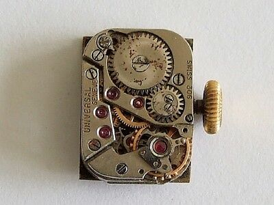 Universal Geneve 306 cal 4 x 6 ligne watch movement for spares, repair