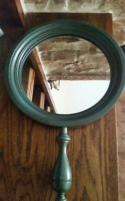 Vintage Tell City Mirror with Handle Pattern 3148 Antique Blue