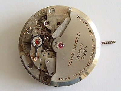 Felsa 1560 21 jewel automatic watch movement for spares, repair.
