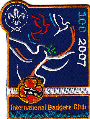 Boy Scout Badge embroidered 2007 CENTENARY One World OnePromise INT BC Backpatch