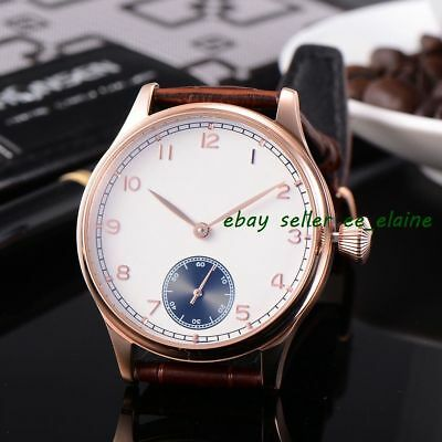 Corgeut 44mm Sterile Dial Rosegold PVD Case Hand-winding Watches WCM2002BGWB02