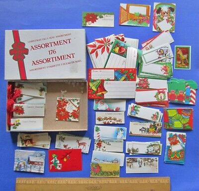 Collection of Mixed Era Christmas Gift Tags In Vintage Box