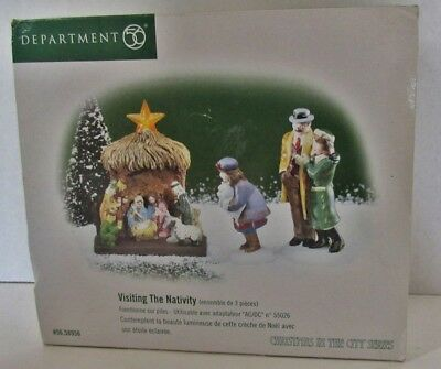 Visiting The Nativity-Set Of 3 - Rough  Box  Department 56 Late '80